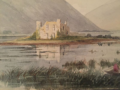 Original Vintage Water Colour Painting by Elsie K S Powell The Ruin