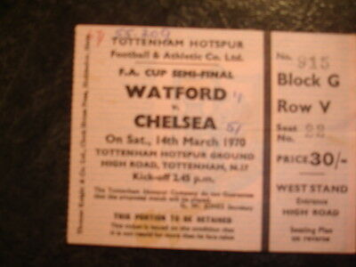Ticket Fa Cup S/f Chelsea V Watford 69-70