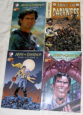 ARMY OF DARKNESS: ASHES TO ASHES #1,2,3,4 (SET OF 4 COMICS) Ash / Evil Dead 2004