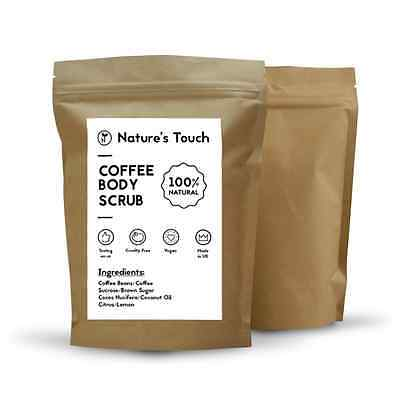 Anti-cellulite,organic coffee and coconut body scrub 200 grams VALUE PACK,NEW