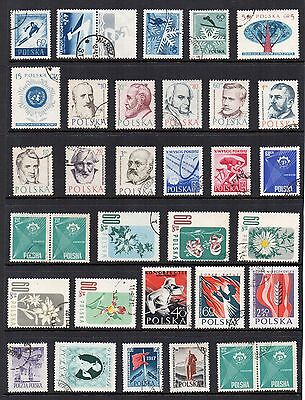 POLAND Stamps Collection circa 1957 USED  Ref:QE208