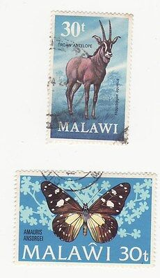 Malawi 1973 SG 433 and 1973/4 defins 30t both used
