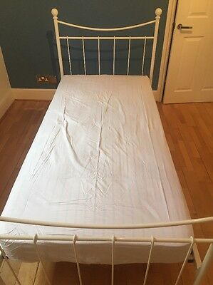 White Metal 3ft Single Bed Frame - Perfect