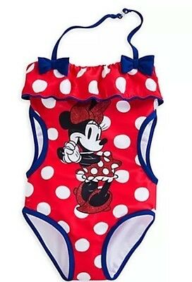 Disney store Minnie Mouse Swimsuit Toddler Girl Size 3