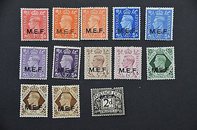 GB Middle East Forces unused KG6 stamps