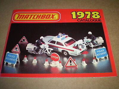 Matchbox Toy Catalogue 1978 Uk Edition Vgood Condition For Age