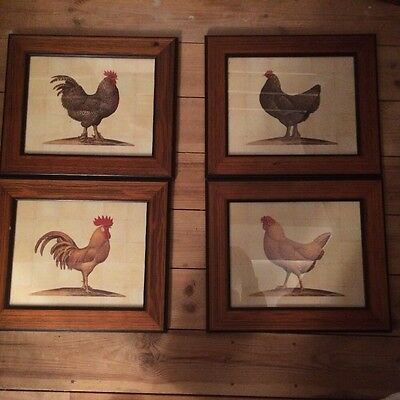 4 Prints Of Bantham Chickens