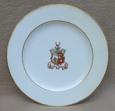 Antique English Copeland Armorial Plate Irish Crofton Family From Longford House