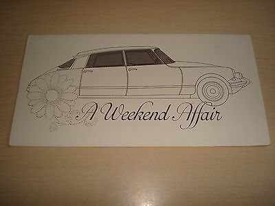 "Citroen Ds21 ""a Weekend Affair"" Sales Leaflet Road Test Issued By Citroen Sloug"
