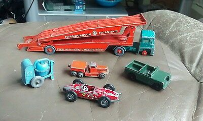 Bundle Of Old Vintage  Lesney Diecast Cars /truck / Mixer !!
