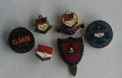 Six General Workers Trade Union Badges