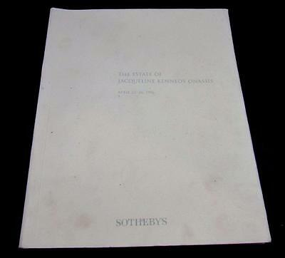 Jacqueline Kennedy Onassis Sotheby Auction Catalog of April 1996