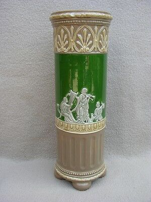 Antique Continental Austrian Minton Majolica Vase In Neoclassical Style