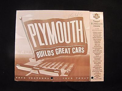 1949 Plymouth Plymouth Full Line Original Sales Brochure Special Deluxe
