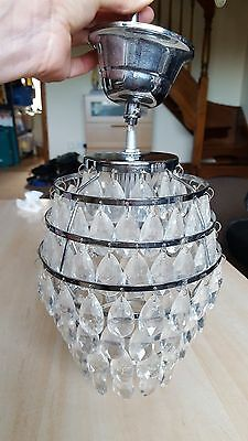 HEAVY METAL AND GLASS LIGHT FITTING Chandelier CEILING LIGHT