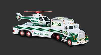 1995 HESS Toy Truck Trailer with Helicopter - NEW IN BOX