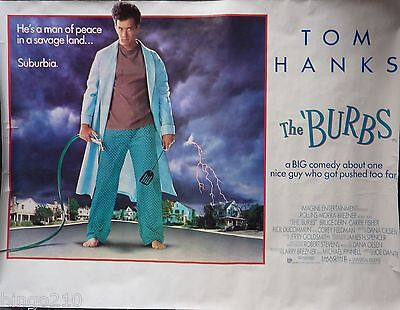 The Burbs Original 1989 Cinema Quad Poster Tom Hanks Joe Dante Carrie Fisher