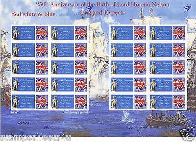 SC-TS279 LORD HORATIO NELSON 250th birth anniversary THEMED SMILERS STAMPS SHEET