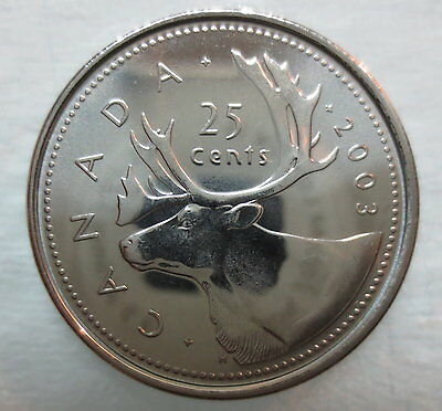 2003P Canada 25¢ Caribou Old Effigy Brilliant Uncirculated Quarter