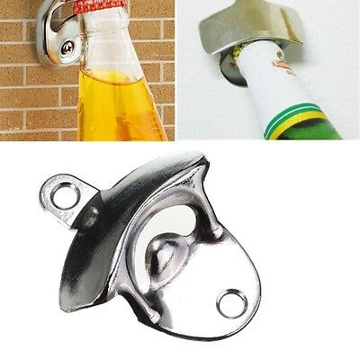 Bar Beer Soda Cap Tools Bottle Opener Wall Mounted Opener Fixed Wine Opener