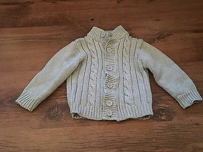 Baby Boys Button Up Grey Cardigan 9-12 Months