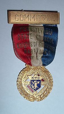 Antique Medal / Badge Committee Member 1919 Knights of Columbus / PA Convention