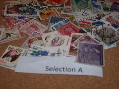 100 Stamps From The U S A Selection A