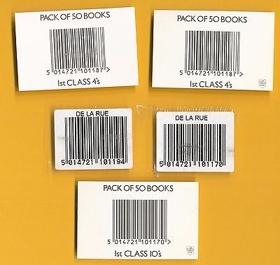 5 Different Booklet Packs Barcode Labels - As Scan