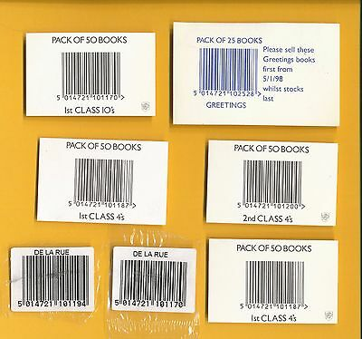 7 Different Booklet Packs Barcode Labels - As Scan