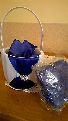 Flower Girl Basket With Petals For Wedding Day