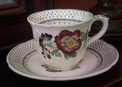 Mason's Ironstone 'Paynsley' design vintage breakfast cup & saucer, floral
