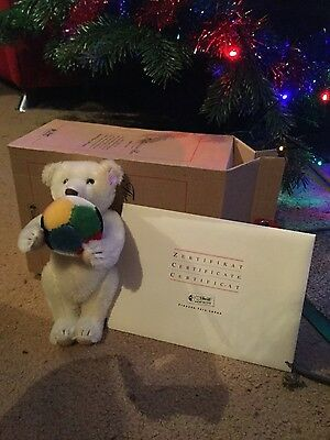 THE EXHIBITION BEAR 2003 BY STEIFF - 21cm - NEW IN BOX WITH CERTIFICATE