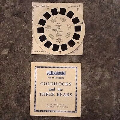 View Master Reel Of 1960 Goldilocks And The 3 Bears