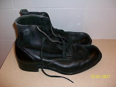 Vintage Army Boots with Leather Sole size 9