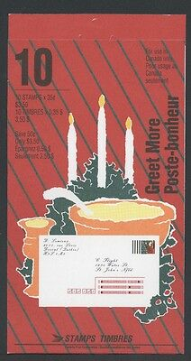 CANADA BOOKLET BK133a 35c x 10 CHRISTMAS GREET MORE