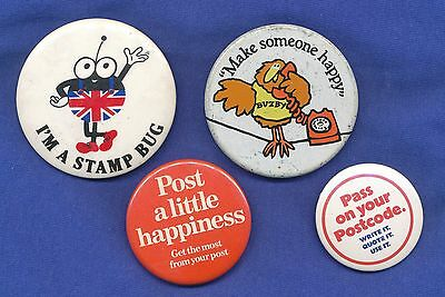 Royal Mail - Busby - Stamp Bug - 4 Badges As Scan (4)