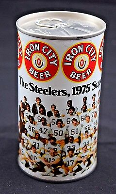 Iron City Beer Can Pittsburgh Steeler 1975 Super Bowl Champions J11