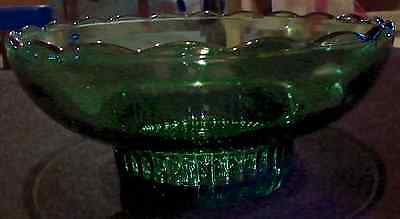 E.o. Brody Glass Co. Cleveland Ohio M2000 Hand Blown Green Footed Bowl (3-D)
