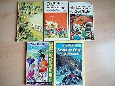 Enid Blyton's Famous Five Books and others. 5 books. Vintage