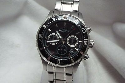 5 Gents Rotary Stainless Steel Chronograph GB00014 Quartz Wrist Watch