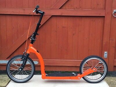 Adult folding scooter Swifty One Mark 3 orange and black 16-inch wheels