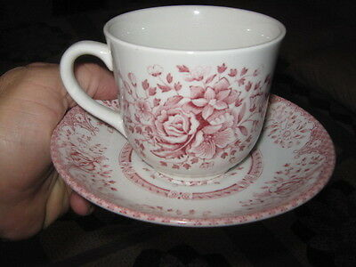 Wood & Sons England Pink Rose cup & saucer set