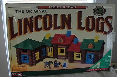 """Lincoln Logs Wood """"Frontier Town"""" Pre-Owned"""
