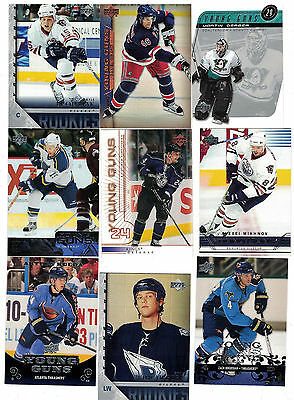 NHL Young Guns Tradingcard Lot – 10 Upper Deck Young Guns Rookie Cards