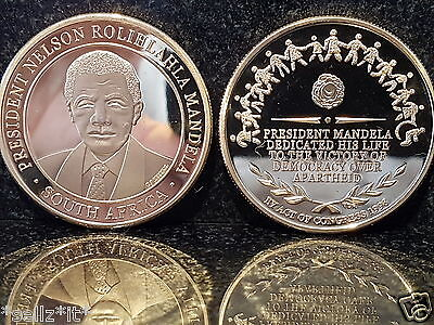 Nelson Mandela Gold Coin Hero Legend Life Victory of Democracy Great President