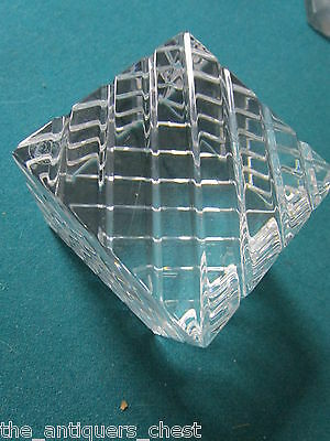 "Baccarat France crystal  paperweight, RARE design, 2 3/4"" stamped"