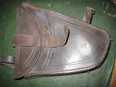 rare french  cycling vintage leather tool bag top bar