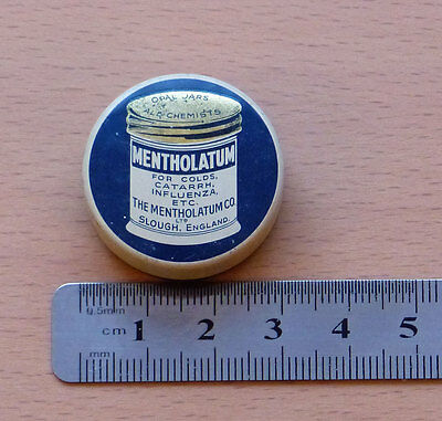 A Small Vintage Mentholatum Tin from The Mentholatum Co. Slough England - Old