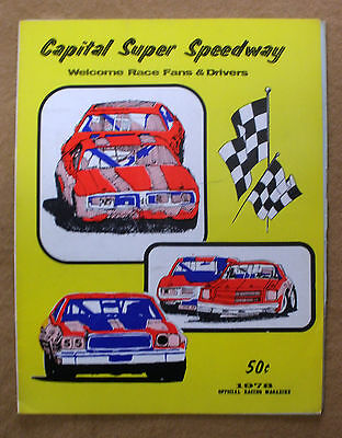 1978 Capital Super Speedway Official Racing Magazine