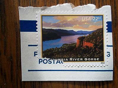 Uncancelled #5041 $22.95 Columbia River Gorge used 2016 High Value Express Mail